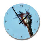 Clock With Goliath Heron Image