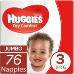 Huggies Dry Comfort Size 3 Jumbo 76 Nappies