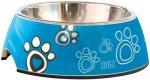 Rogz - 2-IN-1 Medium 350ML Bubble Dog Bowl Turquoise Paw Design