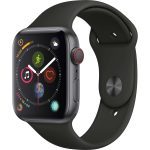 Apple Watch Series 4 in Space Gray Aluminium & 44mm Black Band