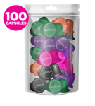 Caffeluxe Nespresso Coffee Capsules Compatible Mixed Value Pack