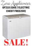 Zero Appliances 215 Litre Gas Electric White Chest Freezer