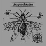 STEAMPUNK Beetle Gear Sweater Grey