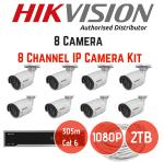 Hikvision 2MP Ip 8 Ch 8 Cam Kit No Hard Drive