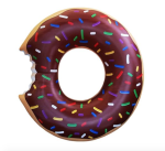 Chocolate Frosted Gigantic Donut Inflatable Adult Pool Float