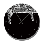 Clock With Moods Of Nature Leopard Image