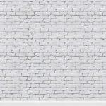 KonPon Backdrop LTD Konpon 8X8FT Brick Paper Backdrop White Brick Wall Backdrop Photography Backdrops Photo Props Brick Backgrou