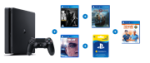 Sony Playstation 4 500GB Slim Gaming Console With Dualshock Wireless Controller -jet Black Compact Design 500GB Storage 8GB GDDR