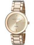 Anne Klein AK 1362RGRG Women's Rose Gold-Tone Diamond-Accented Bracelet Watch