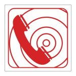 """Fb 7 - """"fire Telephone"""" Safety Sign"""