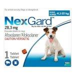 Nexgard 1 Dose in Blue for 4.1-10kg Medium Dogs