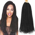 XCHSLB 8 Packs 18 Inch Senegalese Twist Crochet Hair Synthetic Braiding Hair Extension Short Small Havana Mambo Twist Crochet Br