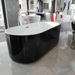 Eurotrend Piave Freestanding Bath in Black