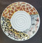 Animal Print African Grater Plate