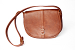 Mally Leather Bags Leather Saddle Handbag in Brown