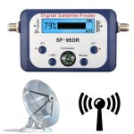 Digital Satellite Finder Meter With Lcd Display & With Compass