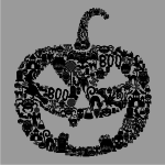 Pumpkin Face Sweater Grey