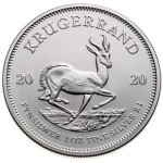 1 X One Ounce 2020 Bullion Silver Krugerrand Includes Capsule