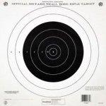 Vista Outdoor Sales LLC Champion Nra Paper TQ-4 P 100-YARD Single Bullseye To Train Or Qualify Target Pack Of 100