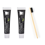 Total Smile Double Dual Charcoal Toothpaste Plus Bamboo Toothbrush