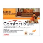 Comfortis 6 Orange Chews for 4.6-9kg Small Dogs