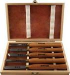 Tork Craft Chisel Set Wood Turning 300mm Hss 5 Piece Wood Case