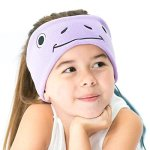 CozyPhones Kids Froggy Headphones Volume Limited with Ultra-thin Speakers in Purple