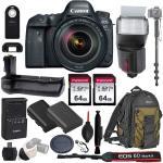 Canon Eos 6D Mark II Wi-fi Dslr Camera Body With Ef 24-105MM F 4L Is II Usm Lens - Pro Battery Grip Ttl Flash