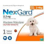 Nexgard 6 Doses in Orange for 2-4kg Small Dogs