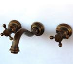Brass TBT021 Wall Mounted 3 Piece Mixer