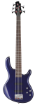 Action Bass V Plus Blue Metallic Bass Guitar