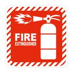 Red Fire Extinguisher Symbolic Sign On White Acp 150 150MM