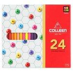 Colleen Pencil Crayon Coloured Pencils Neon Assorted 775 24 Set 24
