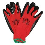 Pinnacle Welding And Safety Pinnacle Sp-flex Red black Nitrile Safety Glove Smooth Palm