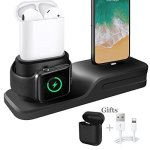 KEHANGDA 3 In 1 Iphone Airpods Apple Watch Charging Stand Charger Dock Station Silicone Support Apple Watch Series 3 2 1 AIRPODS