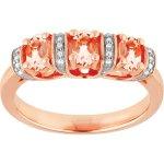 1.00CT Morganite & Diamonds Trilogy Ring In Silver