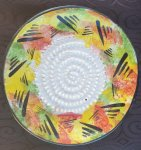 Abstract Painted African Grater Plate