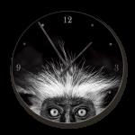 Clock With Shades Of Nature Monkey Image