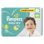 Pampers Active Baby 44 Nappies Size 6 XL Jumbo Pack