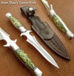 S A Knives Handmade Stainless Steel Boot Dagger