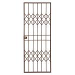 Trellis-gate Lockable Security Gate 770MM X 1950MM - Bronze