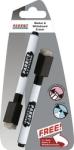Parrot Whiteboard Marker Magnetic Eraser Black Pack Of 2