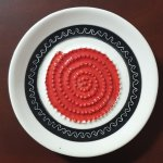Black & Red African Grater Plate