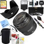 Canon Ef 100MM F 2.0 Usm Lens 2518A003 + 64GB Ultimate Filter & Flash Photography Bundle