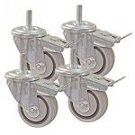 """Kreg 3"""" Dual Locking Caster Set Set Of 4"""