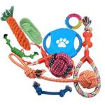 Override Multi-colour Dog Rope Toys 10 Pack Set