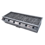 Chad-O-Chef Sizzler 6 Burner Gas Braai Stainless-steel