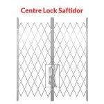 Centre Lock Saftidor - White - White 2200MM - 2600MM Width