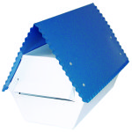 Letter Box Electro Galv.blue