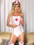 Lollipop Lingerie Sexy Hot Nurse Costume Teddy S-M-32-34